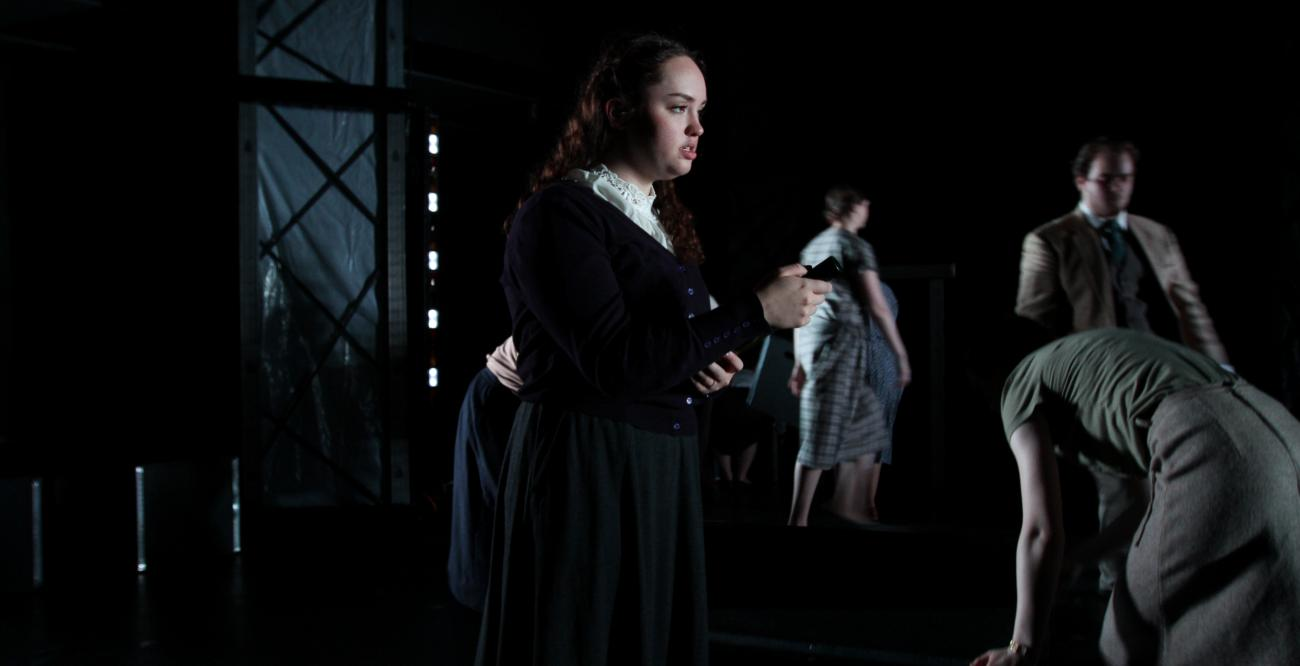 Madison Pratt in a production of Machinal at the 2019 Fringe Festival