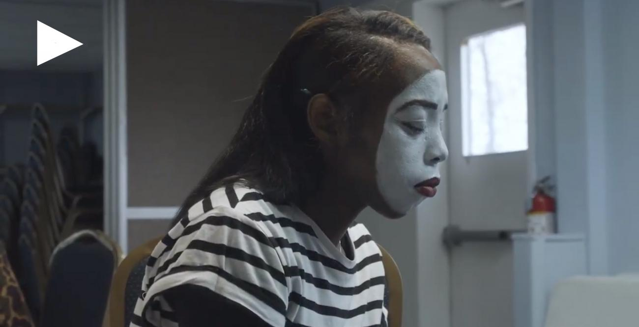 mime looking sad
