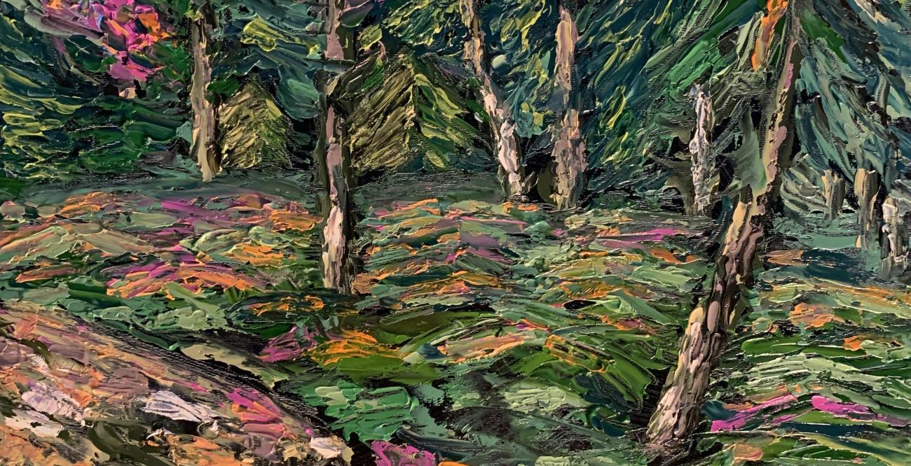 impressionist painting of trees