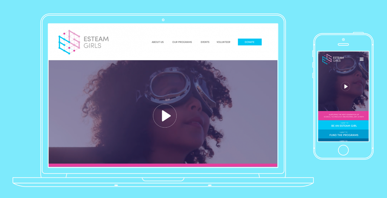 Esteam Girls Website designed by Angela Hanson.