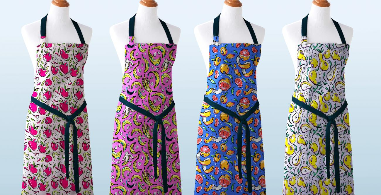 Patterned apron designs