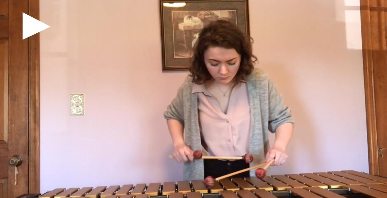 Morgan Walbridge plays the vibraphone.